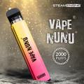 Steam Engine Vape NuNu 2000 Puff  [Non Tobacco Nicotine] [10 Pcs]