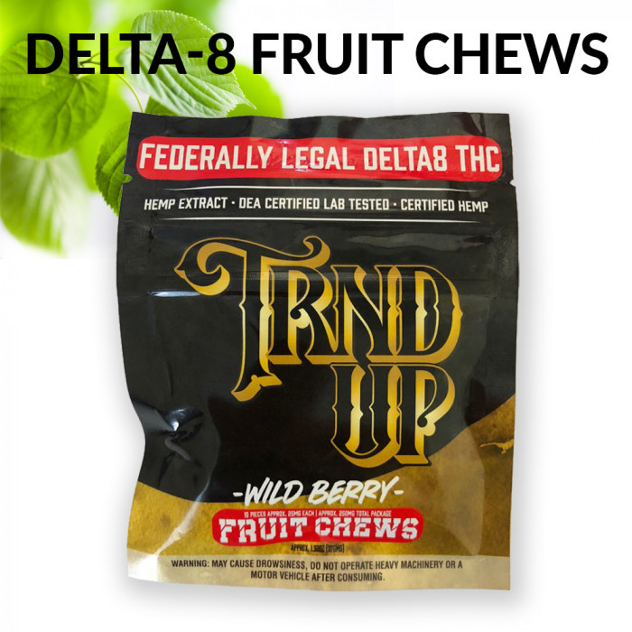 Delta 8 Fruit Chews [250mg, 10pcs/pack ]
