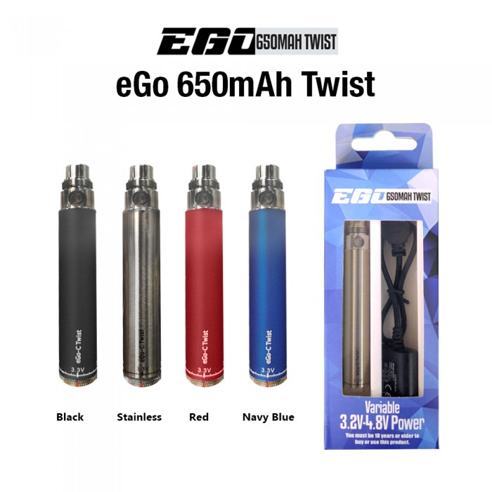 eGo 650mAh Variable Twist Battery Kit (USB line Included)