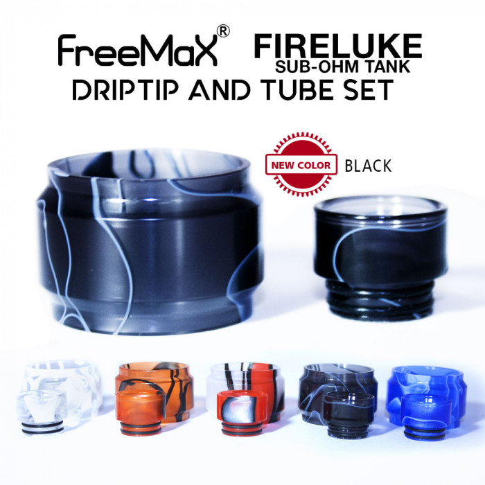 Replacement Tube & Driptip Set - Freemax Fireluke Mesh Tank