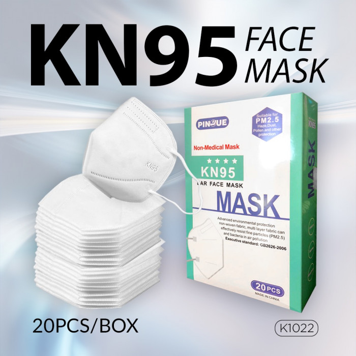 KN95 Ear Face Mask ( 20 Pcs / Box )  _ K1022