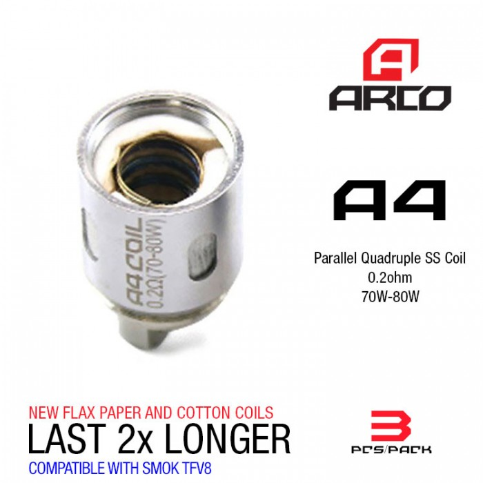 Horizon Arco Coils 0.2ohm A4 - (3pcs/box)