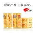 IMREN 18650 20/40A 3000mAh Battery 1pcs - GOLD