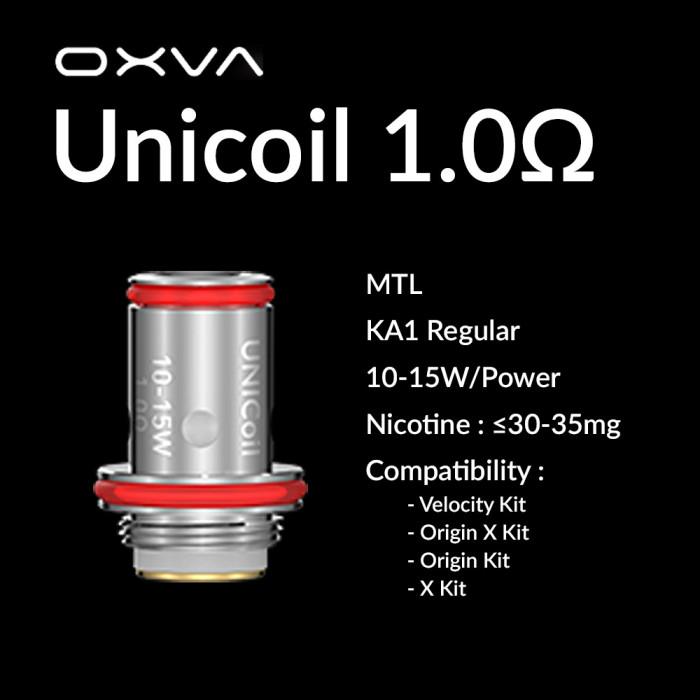 OXVA Unicoil 1.0 Ω Coil [ 5 pcs ]