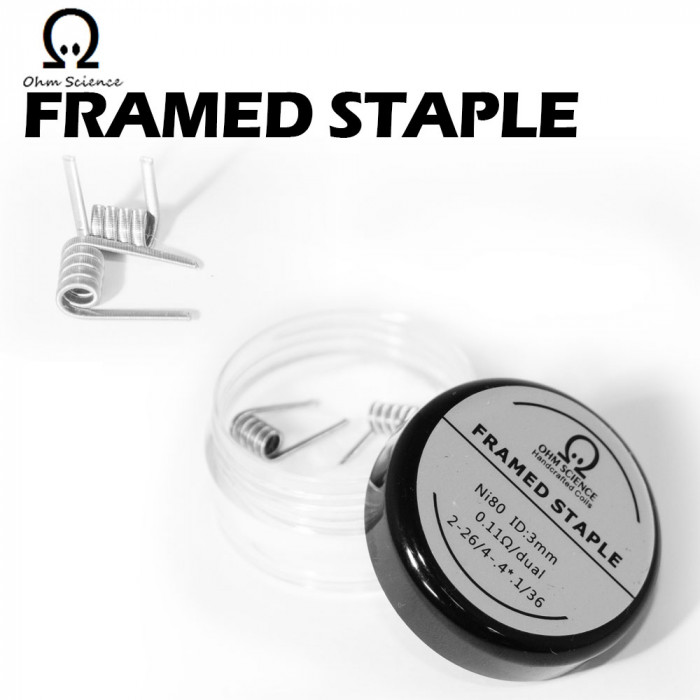 Ohm Science_Framed Staple Clapton (Hand Crafted Prebuilt Coil)