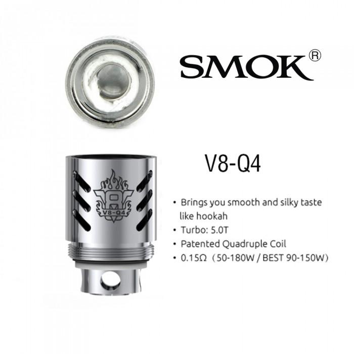 Smok V8-Q4 Quadruple Coils (For TFV8)(3pcs/pack)