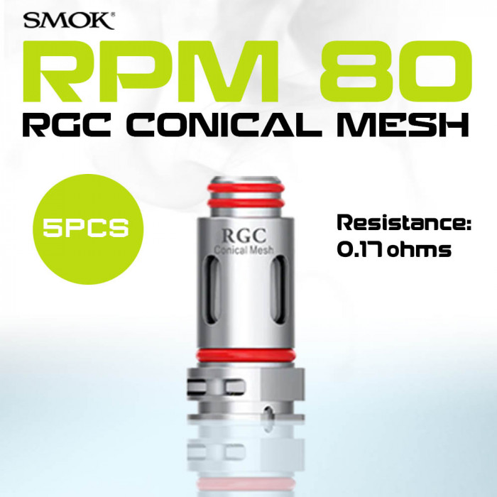 SMOK RPM80 RGC Conical Mesh Coil 0.17 ohm [ 5 pcs ]