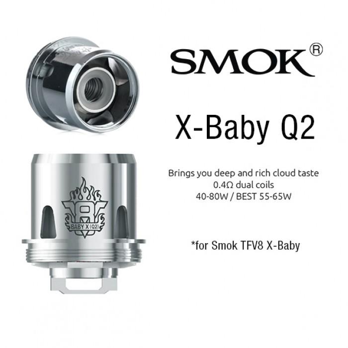 Smok TFV8 X-Baby - Q2 coils (3pcs/pack)