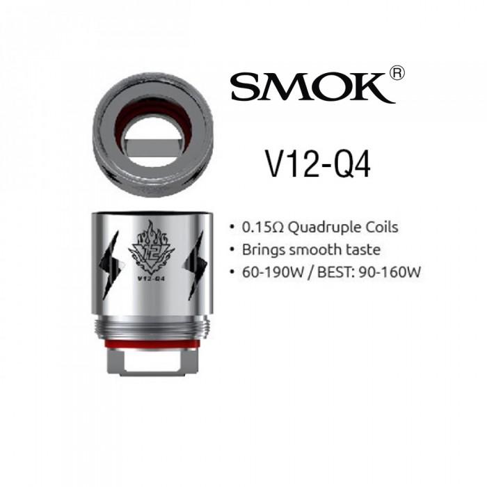 Smok V12-Q4 Coils (For TFV12) (3pcs/pack)