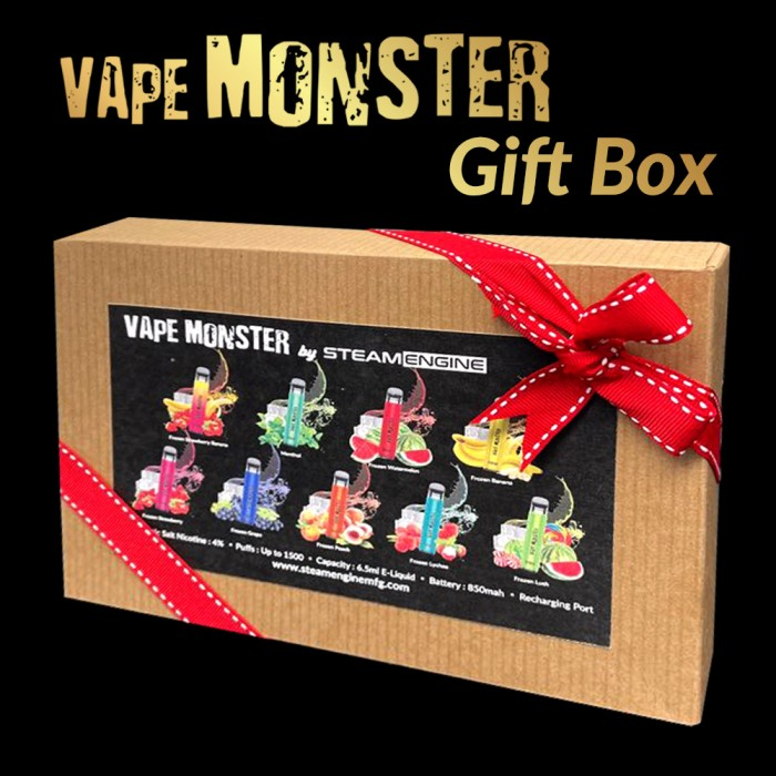 Steam Engine  Vape Monster 9 flavors Gift Box [ Limited Quantity ]