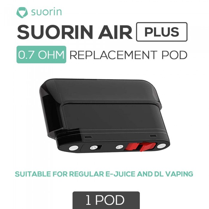 Suorin _ Air Plus Replacement Pods _ 0.7 Ω [ 1 pc ]