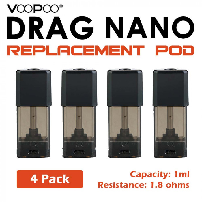 VOOPOO DRAG Nano Replacement Pod_POD S1 ( 4 pcs )
