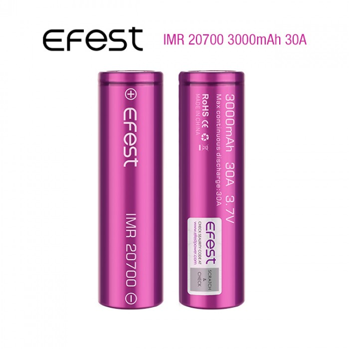 Efest IMR 20700 3000mAh 30A 1pcs