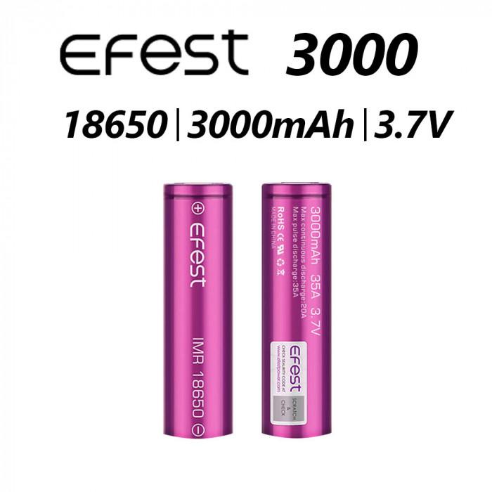 Efest 18650 3000mAh New 35A Battery  (Tear Resistant Wrap) 1pcs