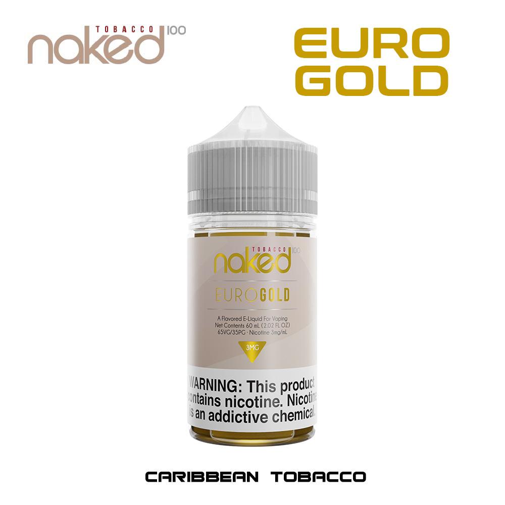 EURO GOLD BY NAKED 100 TOBACCO 60 ml 3 mg E 6MG - Cigarro