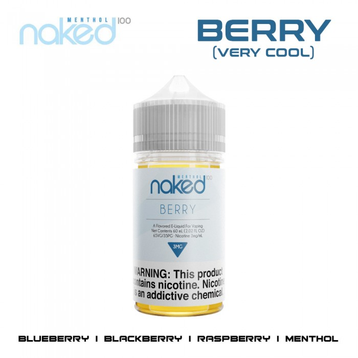 Naked 100 Very Cool E-Liquid (Menthol - 60ml) - Practical
