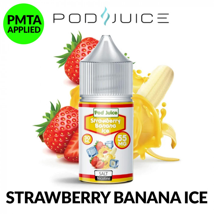 POD JUICE STRAWBERRY BANANA ICE [ 30ml ]