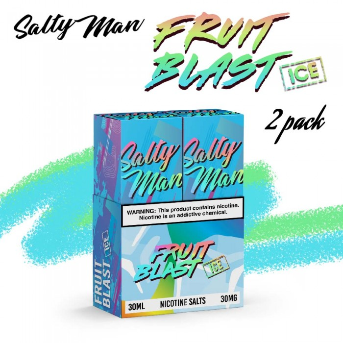 Salty Man Fruit Blast Ice [ 2 Bottle, 30ml ]