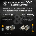 Squid Industries - PeaceMaker V2 Sub-ohm Tank