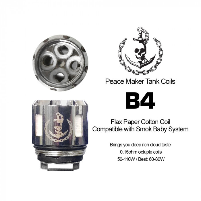 Squid Industries - PeaceMaker  B4 Coils (2pcs/pack)