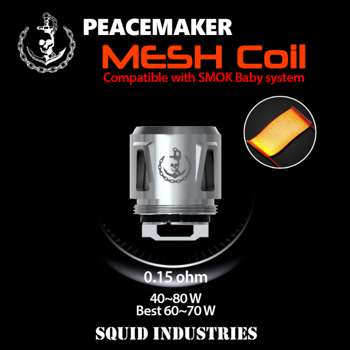 Squid Industries - PeaceMaker MESH Coils (5pcs/pack)