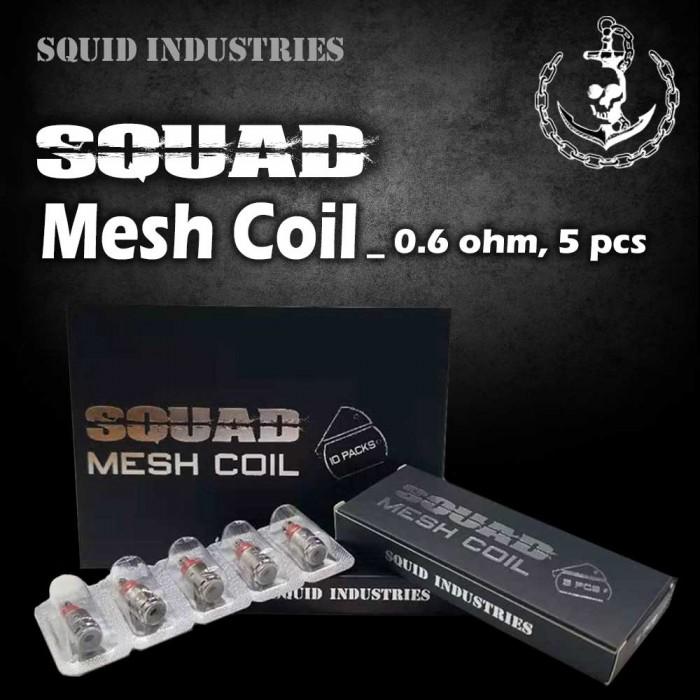 Squid Industries _ Squad Mesh Coil [ 0.6 ohm, 5 pcs ]