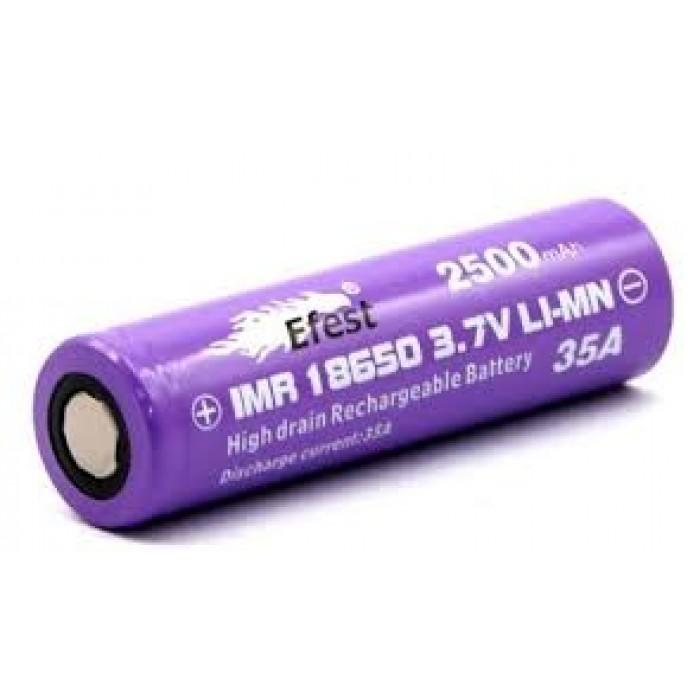 Efest 2500mAh IMR 18650  3.7v ButtonTop Battery