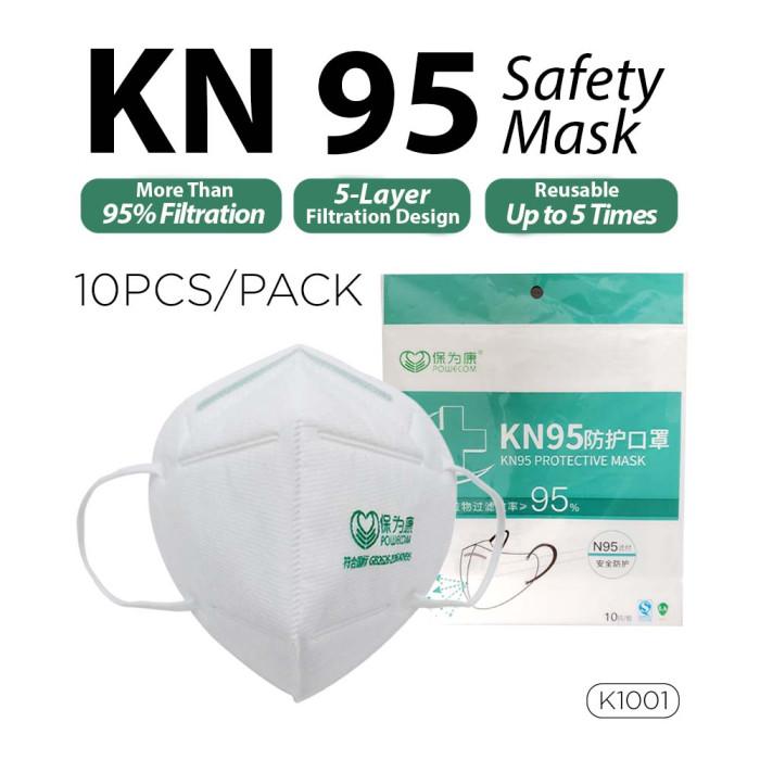 KN95 Safety Mask by POWECOM  ( 10 Pcs / Pack )  _ K1001