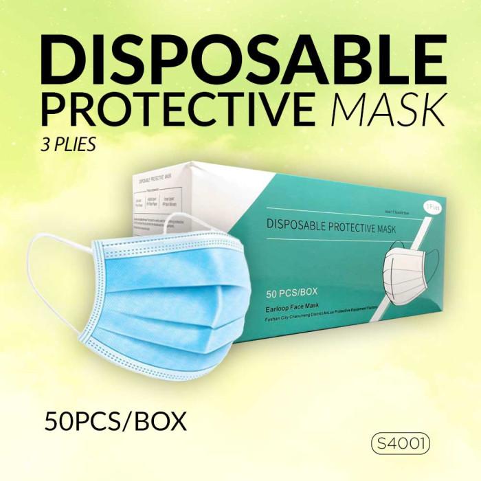 Disposable Protective Face Mask  ( 50 Pcs / BOX )  _ S4001