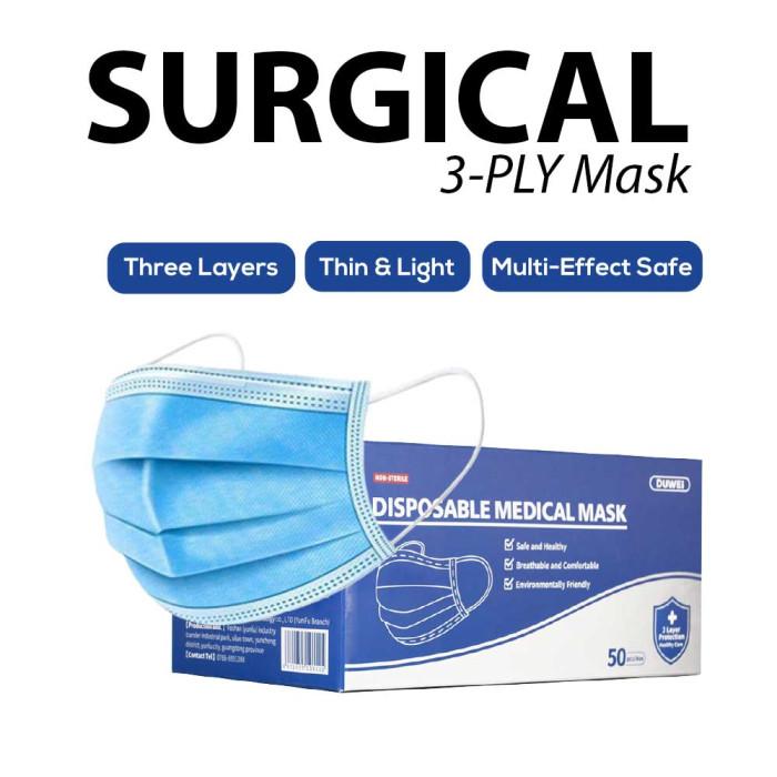 Surgical 3-ply Mask  ( 50 Pcs / BOX )  _ S1001