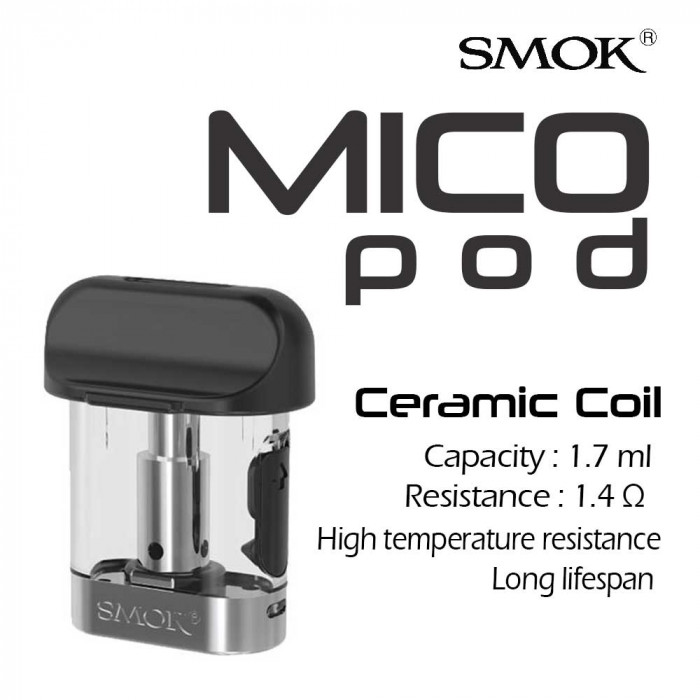 SMOK MICO 1.4 Ω Ceramic Pod [ 3 pcs ]