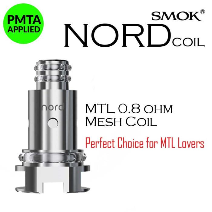SMOK NORD 0.8 Ω Mesh MTL Coil [ 5 pcs ]