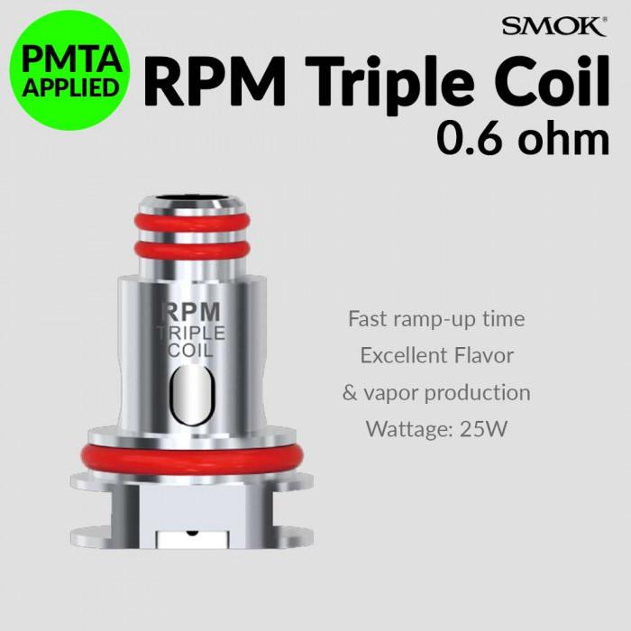 SMOK RPM 0.6 Ω Triple Coil [ 5 pcs ]