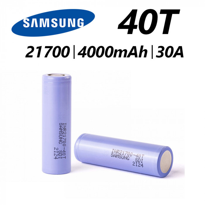 SAMSUNG 40T INR 21700 4000 mAh 30 A Battery [ 1 pcs ]