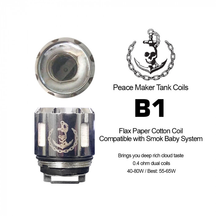 SQUID INDUSTRIES PeaceMaker B1 0.4 Ω Flax Paper Coil [ 2 pcs ]